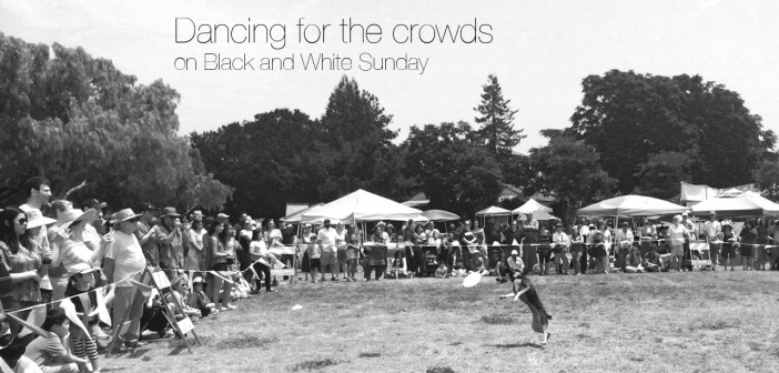 Mort Dances for the Crowds on Black and White Sunday