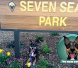 Mort the dog visits Seven Seas Park in Sunnyvale
