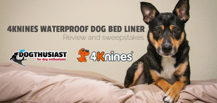 Waterproof dog bed liner and car seat protector: 4Knines review and a chance to WIN #seatcovers4Knines