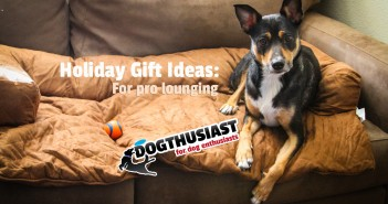 Holiday Gift Ideas for Dog Lovers: Comfy Lounging with a side of Jerky