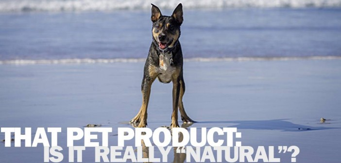"Inside an ""all natural"" fresh breath dog product: Wholesome, naturally sourced… synthetic chemicals and preservatives"